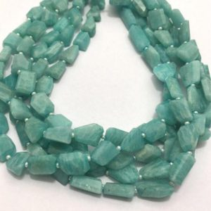 Shop Amazonite Chip & Nugget Beads! Natural Amazonite Faceted Laser Tumble / nuggets Beads, 8mm To 13mm, 14 Inches, Blue-green Beads, Gemstone Beads, Semiprecious Stone Beads | Natural genuine chip Amazonite beads for beading and jewelry making.  #jewelry #beads #beadedjewelry #diyjewelry #jewelrymaking #beadstore #beading #affiliate #ad