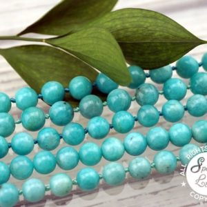 Shop Amazonite Necklaces! Amazonite Round Beads 11-12mm (etb01092) Peruvian Gemstone / unique Jewelry / vintage Jewelry / gemstone Necklace | Natural genuine Amazonite necklaces. Buy crystal jewelry, handmade handcrafted artisan jewelry for women.  Unique handmade gift ideas. #jewelry #beadednecklaces #beadedjewelry #gift #shopping #handmadejewelry #fashion #style #product #necklaces #affiliate #ad
