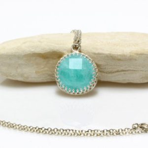 Shop Amazonite Pendants! Amazonite necklace,gemstone necklace,silver necklace,long necklace,silver pendant necklace,customized necklaces,wedding necklace | Natural genuine Amazonite pendants. Buy handcrafted artisan wedding jewelry.  Unique handmade bridal jewelry gift ideas. #jewelry #beadedpendants #gift #crystaljewelry #shopping #handmadejewelry #wedding #bridal #pendants #affiliate #ad