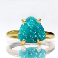 Triangle Gemstone Ring, gemstone Jewelry, amazonite Ring, blue Stone Ring, stacking Ring, gold Ring, stackable Rings | Natural genuine Gemstone jewelry. Buy crystal jewelry, handmade handcrafted artisan jewelry for women.  Unique handmade gift ideas. #jewelry #beadedjewelry #beadedjewelry #gift #shopping #handmadejewelry #fashion #style #product #jewelry #affiliate #ad