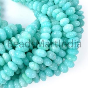 Shop Amazonite Rondelle Beads! Natural Amazonite Carving Rondelle Beads, Amazonite Carving Gemstone Beads, Amazonite Rondelle Beads, Amazonite Smooth Beads,Amazonite Beads | Natural genuine rondelle Amazonite beads for beading and jewelry making.  #jewelry #beads #beadedjewelry #diyjewelry #jewelrymaking #beadstore #beading #affiliate #ad