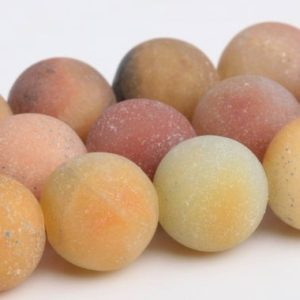 Shop Amazonite Round Beads! Matte Yellow Amazonite Beads Grade AAA Genuine Natural Gemstone Round Loose Beads 6/8/10/12MM Bulk Lot Options | Natural genuine round Amazonite beads for beading and jewelry making.  #jewelry #beads #beadedjewelry #diyjewelry #jewelrymaking #beadstore #beading #affiliate #ad