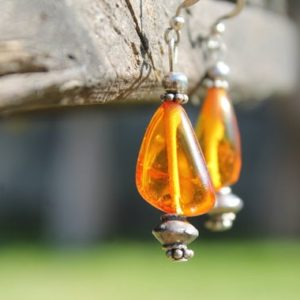 Shop Amber Earrings! Baltic Amber Earrings Dangle Yellow Honey Natural Jewelry Geometric Zen Transparent Dangling Summer Organic Fashion Handcrafted Bee Earthy | Natural genuine Amber earrings. Buy crystal jewelry, handmade handcrafted artisan jewelry for women.  Unique handmade gift ideas. #jewelry #beadedearrings #beadedjewelry #gift #shopping #handmadejewelry #fashion #style #product #earrings #affiliate #ad