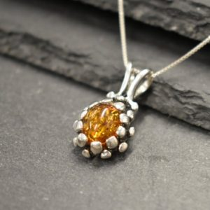 Shop Amber Pendants! Amber Pendant, Natural Amber, Taurus Birthstone, Pine Cone Pendant, Vintage Pendant, Honey Stone Pendant, Pine Charm, Solid Silver Pendant | Natural genuine Amber pendants. Buy crystal jewelry, handmade handcrafted artisan jewelry for women.  Unique handmade gift ideas. #jewelry #beadedpendants #beadedjewelry #gift #shopping #handmadejewelry #fashion #style #product #pendants #affiliate #ad