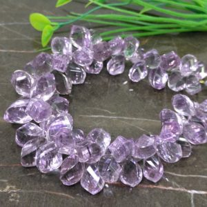 Shop Amethyst Bead Shapes! Natural Pink Amethyst 13-16.5mm Twisted Drops Briolette Beads / Approx 66 pieces on 8 Inch long strand / JBC-ET-148757 | Natural genuine other-shape Amethyst beads for beading and jewelry making.  #jewelry #beads #beadedjewelry #diyjewelry #jewelrymaking #beadstore #beading #affiliate #ad
