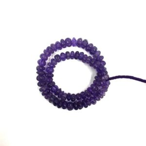 "Shop Amethyst Rondelle Beads! Natural Stone 14"" Strand Amethyst Carving Rondelle Beads 9mm Gemstone Beads 