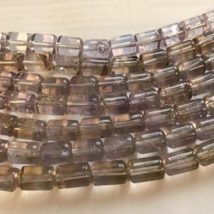 Shop Ametrine Bead Shapes! Natural Ametrine 10x8mm Cylinder Gemstone Beads—7.5''–1 Strand / 3 Strands | Natural genuine other-shape Ametrine beads for beading and jewelry making.  #jewelry #beads #beadedjewelry #diyjewelry #jewelrymaking #beadstore #beading #affiliate #ad