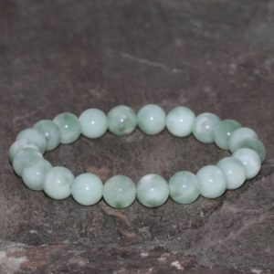 Green Angelite Stacking Bracelet, 8mm Peru Gem, Throat Chakra Crystals, Peruvian Angelite Beaded Bracelet, Natural Green Gemstone Bracelet | Natural genuine Gemstone bracelets. Buy crystal jewelry, handmade handcrafted artisan jewelry for women.  Unique handmade gift ideas. #jewelry #beadedbracelets #beadedjewelry #gift #shopping #handmadejewelry #fashion #style #product #bracelets #affiliate #ad