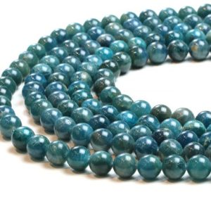 """Round Apatite beads,gemstone beads,jewelry supplies,diy beads,apatite stone beads,unique necklace,wholesale stone beads – 16"""" Strand 