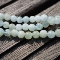 Aquamarine Round Beads 5-6.5mm (etb00128) Unique Jewelry / vintage Jewelry / gemstone Necklace | Natural genuine Gemstone jewelry. Buy crystal jewelry, handmade handcrafted artisan jewelry for women.  Unique handmade gift ideas. #jewelry #beadedjewelry #beadedjewelry #gift #shopping #handmadejewelry #fashion #style #product #jewelry #affiliate #ad