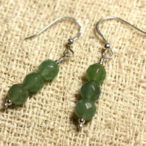 Shop Aventurine Earrings! 925 Sterling Silver earrings – Faceted green Aventurine 6mm | Natural genuine Aventurine earrings. Buy crystal jewelry, handmade handcrafted artisan jewelry for women.  Unique handmade gift ideas. #jewelry #beadedearrings #beadedjewelry #gift #shopping #handmadejewelry #fashion #style #product #earrings #affiliate #ad