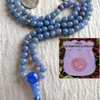Blue Aventurine Mala Beads Necklace Tibetan Buddhist Prayer Karma Beaded Blue Aventurine Mala Birthstone Necklace Raw Dainty Crystal | Natural genuine Gemstone jewelry. Buy crystal jewelry, handmade handcrafted artisan jewelry for women.  Unique handmade gift ideas. #jewelry #beadedjewelry #beadedjewelry #gift #shopping #handmadejewelry #fashion #style #product #jewelry #affiliate #ad