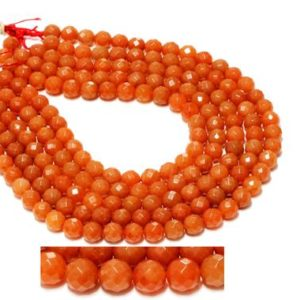 "Shop Aventurine Bead Shapes! Gemstone beads,jewelry beads,aventurine beads,orange beads,faceted beads,beads wholesale,gem beads,loose stones – 16"" Full Strand 
