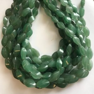 "Shop Aventurine Bead Shapes! Natural Aventurine 16x10mm Swirl Gemstone Beads -15.5""–1 strand/3 strands 