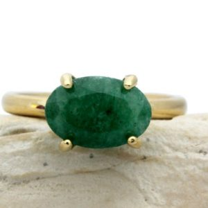 green Aventurine ring,delicate oval ring,prong setting ring,gold ring,stack ring,gold stacking ring,dark green ring | Natural genuine Array jewelry. Buy crystal jewelry, handmade handcrafted artisan jewelry for women.  Unique handmade gift ideas. #jewelry #beadedjewelry #beadedjewelry #gift #shopping #handmadejewelry #fashion #style #product #jewelry #affiliate #ad