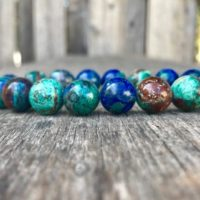Chunky Bluebird Azurite Malachite Bracelet 12mm Azurite Malachite Beaded Gemstone Bracelet Blue Green Stone Bracelet Unisex Bracelet | Natural genuine Gemstone jewelry. Buy crystal jewelry, handmade handcrafted artisan jewelry for women.  Unique handmade gift ideas. #jewelry #beadedjewelry #beadedjewelry #gift #shopping #handmadejewelry #fashion #style #product #jewelry #affiliate #ad
