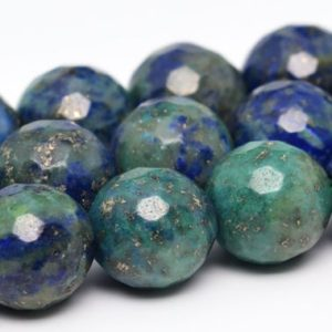 Shop Azurite Faceted Beads! Azurite Beads Grade AAA Natural Gemstone Micro Faceted Round Loose Beads 6MM 8MM 10MM 12MM Bulk Lot Options | Natural genuine faceted Azurite beads for beading and jewelry making.  #jewelry #beads #beadedjewelry #diyjewelry #jewelrymaking #beadstore #beading #affiliate #ad