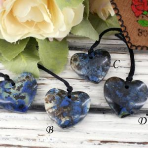 Shop Azurite Pendants! Azurite Heart Shape Pendants 29-31mm (etp00186) Rare / unique Jewelry / vintage Jewelry / gemstone Pendants | Natural genuine Azurite pendants. Buy crystal jewelry, handmade handcrafted artisan jewelry for women.  Unique handmade gift ideas. #jewelry #beadedpendants #beadedjewelry #gift #shopping #handmadejewelry #fashion #style #product #pendants #affiliate #ad