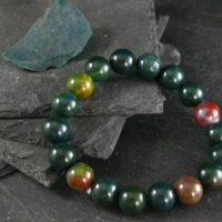 Bloodstone Genuine Bracelet ~ 7 Inches ~ 10mm Round Beads | Natural genuine Gemstone jewelry. Buy crystal jewelry, handmade handcrafted artisan jewelry for women.  Unique handmade gift ideas. #jewelry #beadedjewelry #beadedjewelry #gift #shopping #handmadejewelry #fashion #style #product #jewelry #affiliate #ad