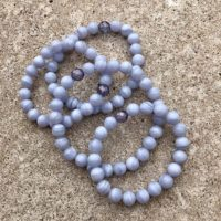 Blue Lace Agate And Tanzan Aura Grounding Bracelet Ws2839 | Natural genuine Gemstone jewelry. Buy crystal jewelry, handmade handcrafted artisan jewelry for women.  Unique handmade gift ideas. #jewelry #beadedjewelry #beadedjewelry #gift #shopping #handmadejewelry #fashion #style #product #jewelry #affiliate #ad