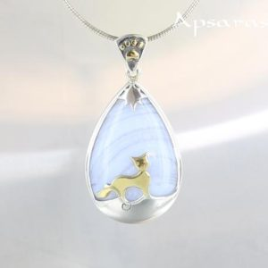 Shop Blue Lace Agate Pendants! Blue lace agate pendant, sterling silver 925, cat design pendant, blue stone, quality made, one of a kind, handmade, animal design jewel | Natural genuine Blue Lace Agate pendants. Buy crystal jewelry, handmade handcrafted artisan jewelry for women.  Unique handmade gift ideas. #jewelry #beadedpendants #beadedjewelry #gift #shopping #handmadejewelry #fashion #style #product #pendants #affiliate #ad