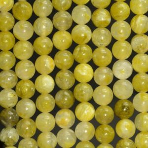 Shop Calcite Beads! 6mm Genuine Green Yellow Calcite Gemstone Smooth Round Loose Beads 15 inch Full Strand (80007164-A245) | Natural genuine round Calcite beads for beading and jewelry making.  #jewelry #beads #beadedjewelry #diyjewelry #jewelrymaking #beadstore #beading #affiliate #ad