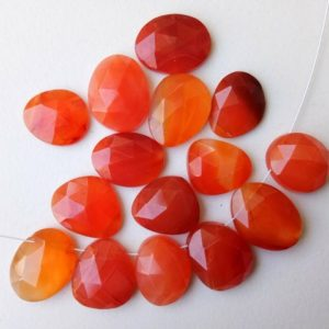 Shop Carnelian Cabochons! 13.5-16mm Carnelian Rose Cut Cabochons, Drilled Carnelian Free Form Shape Rose Cut Flat Back Cabochons, 5 Pcs – PDG272 | Natural genuine stones & crystals in various shapes & sizes. Buy raw cut, tumbled, or polished gemstones for making jewelry or crystal healing energy vibration raising reiki stones. #crystals #gemstones #crystalhealing #crystalsandgemstones #energyhealing #affiliate #ad
