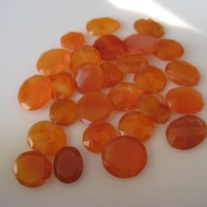 Shop Carnelian Cabochons! 6 Pieces 12x11mm To 15x13mm Each Carnelian Rose Cut Chalcedony Flat Back Orange Color Loose Cabochons RS36 | Natural genuine stones & crystals in various shapes & sizes. Buy raw cut, tumbled, or polished gemstones for making jewelry or crystal healing energy vibration raising reiki stones. #crystals #gemstones #crystalhealing #crystalsandgemstones #energyhealing #affiliate #ad