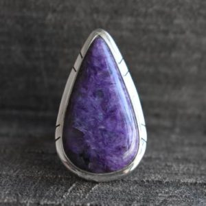 Shop Charoite Rings! charoite ring,925 silver ring,natural charoite ring,charoite gemstone ring,purple charoite ring,gemstone ring | Natural genuine Charoite rings, simple unique handcrafted gemstone rings. #rings #jewelry #shopping #gift #handmade #fashion #style #affiliate #ad
