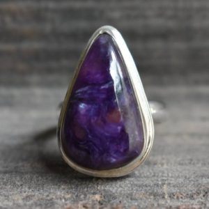 Shop Charoite Rings! natural charoite ring,925 silver ring,charoite ring,natural purple charoite ring,purple charoite gemstone ring,charoite ring,gemstone ring | Natural genuine Charoite rings, simple unique handcrafted gemstone rings. #rings #jewelry #shopping #gift #handmade #fashion #style #affiliate #ad