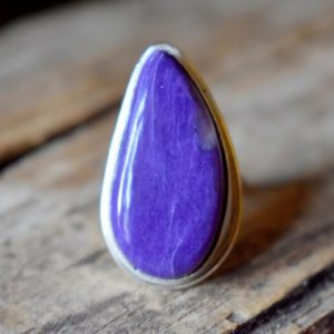 Shop Charoite Rings! Charoite Gemstone Ring, Statement Ring, 925 Sterling Silver , Charoite Ring , Artisan Silver Ring , Jewellery Gift #sc76 | Natural genuine Charoite rings, simple unique handcrafted gemstone rings. #rings #jewelry #shopping #gift #handmade #fashion #style #affiliate #ad