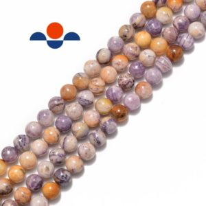"""Shop Charoite Beads! Chinese Charoite Smooth Round Size 6mm 8mm 15.5"""" Strand 
