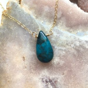 Shop Chrysocolla Necklaces! Azurite Chrysocolla Necklace – Stone Necklace – Chrysocolla Jewelry – Throat Chakra Necklace | Natural genuine Chrysocolla necklaces. Buy crystal jewelry, handmade handcrafted artisan jewelry for women.  Unique handmade gift ideas. #jewelry #beadednecklaces #beadedjewelry #gift #shopping #handmadejewelry #fashion #style #product #necklaces #affiliate #ad