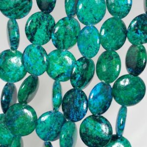 Shop Chrysocolla Round Beads! 16mm Chrysocolla Quantum Quattro Gemstone Green Blue Flat Round Circle Coin Loose Beads 15 inch Full Strand (90143267-B62) | Natural genuine round Chrysocolla beads for beading and jewelry making.  #jewelry #beads #beadedjewelry #diyjewelry #jewelrymaking #beadstore #beading #affiliate #ad