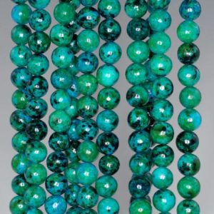 Shop Chrysocolla Round Beads! 6mm Turquoise Chrysocolla Gemstone Round Loose Beads 15.5 inch Full Strand (90114162-206) | Natural genuine round Chrysocolla beads for beading and jewelry making.  #jewelry #beads #beadedjewelry #diyjewelry #jewelrymaking #beadstore #beading #affiliate #ad