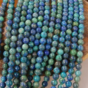 Shop Chrysocolla Round Beads! Chrysocolla  Assorted Size Smooth Round Gemstone Beads -15.5 inch strand | Natural genuine round Chrysocolla beads for beading and jewelry making.  #jewelry #beads #beadedjewelry #diyjewelry #jewelrymaking #beadstore #beading #affiliate #ad