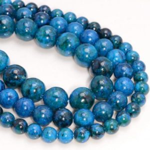 Shop Chrysocolla Round Beads! Blue Chrysocolla Quantum Quattro Gemstone Round 6mm 8mm 10mm Loose Beads  (A272) | Natural genuine round Chrysocolla beads for beading and jewelry making.  #jewelry #beads #beadedjewelry #diyjewelry #jewelrymaking #beadstore #beading #affiliate #ad