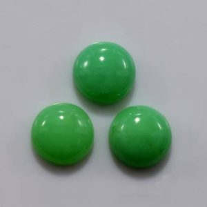Shop Chrysoprase Cabochons! Natural Green Chrysoprase 10 mm Cabochon Round 10.88 cts 3 Piece Loose Gemstone – 100% Natural Green Chrysoprase Gemstone – CHGRN-1002 | Natural genuine stones & crystals in various shapes & sizes. Buy raw cut, tumbled, or polished gemstones for making jewelry or crystal healing energy vibration raising reiki stones. #crystals #gemstones #crystalhealing #crystalsandgemstones #energyhealing #affiliate #ad