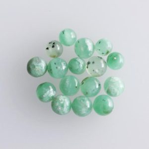 Natural Green Chrysoprase  Cabochon, 3mm 4mm 5mm Round Shape, Flat Back Side, Smooth Chrysoprase, Hand Polished, Jewellery Making, Cab | Natural genuine stones & crystals in various shapes & sizes. Buy raw cut, tumbled, or polished gemstones for making jewelry or crystal healing energy vibration raising reiki stones. #crystals #gemstones #crystalhealing #crystalsandgemstones #energyhealing #affiliate #ad