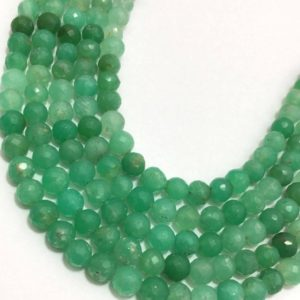 Shop Chrysoprase Faceted Beads! Chrysoprase Faceted Round 6mm To 6.5mm 8 Inches Loose Beads Strand / green Beads / chrysoprase / faceted Beads | Natural genuine faceted Chrysoprase beads for beading and jewelry making.  #jewelry #beads #beadedjewelry #diyjewelry #jewelrymaking #beadstore #beading #affiliate #ad