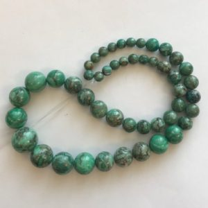 Shop Chrysoprase Round Beads! Chrysoprase 6mm-14mm Graduated Round Gemstone Bead-~ -15.5 inch strand | Natural genuine round Chrysoprase beads for beading and jewelry making.  #jewelry #beads #beadedjewelry #diyjewelry #jewelrymaking #beadstore #beading #affiliate #ad