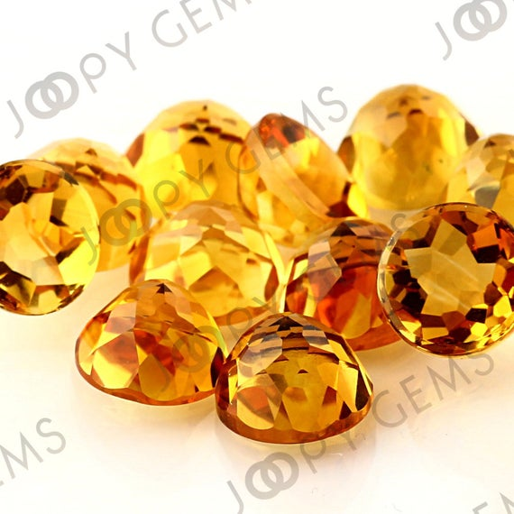 Citrine Rose Cut Cabochon 10mm  Round - Per Stone