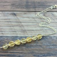 Citrine Necklace, Solar Plexus Chakra, Sterling Or 14k Gold Filled | Natural genuine Gemstone jewelry. Buy crystal jewelry, handmade handcrafted artisan jewelry for women.  Unique handmade gift ideas. #jewelry #beadedjewelry #beadedjewelry #gift #shopping #handmadejewelry #fashion #style #product #jewelry #affiliate #ad