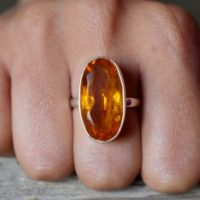 Us Size 7.25 – Citrine Gemstone Ring , 925 Sterling Silver , Citrine Ring , Artisan Silver Ring , Jewellery Gift #b104 | Natural genuine Gemstone jewelry. Buy crystal jewelry, handmade handcrafted artisan jewelry for women.  Unique handmade gift ideas. #jewelry #beadedjewelry #beadedjewelry #gift #shopping #handmadejewelry #fashion #style #product #jewelry #affiliate #ad