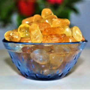 Shop Tumbled Citrine Crystals & Pocket Stones! 100 Gr Yellow Citrine Crystal Reiki Fengsui Tarot Healing Power Tumbled Pebbles | Natural genuine stones & crystals in various shapes & sizes. Buy raw cut, tumbled, or polished gemstones for making jewelry or crystal healing energy vibration raising reiki stones. #crystals #gemstones #crystalhealing #crystalsandgemstones #energyhealing #affiliate #ad