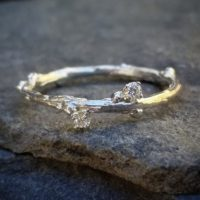 Silver Wedding Bands Women Diamond Wedding Band Women Sterling Silver Band Women Silver Ring Twig Ring Delicate Ring Unique Wedding Ring | Natural genuine Gemstone jewelry. Buy handcrafted artisan wedding jewelry.  Unique handmade bridal jewelry gift ideas. #jewelry #beadedjewelry #gift #crystaljewelry #shopping #handmadejewelry #wedding #bridal #jewelry #affiliate #ad