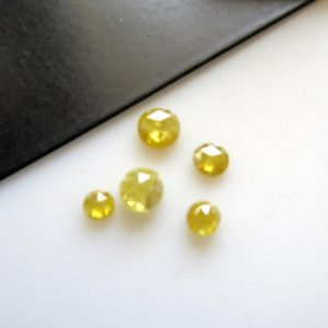 Shop Diamond Round Beads! 5 Pieces 2.5mm To 4mm Clear Yellow Round Rose Cut Diamonds Loose Cabochon, Excellent Cut/Height/Lustre Yellow Diamond Rose Cut, DDS595/7 | Natural genuine round Diamond beads for beading and jewelry making.  #jewelry #beads #beadedjewelry #diyjewelry #jewelrymaking #beadstore #beading #affiliate #ad