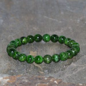 Shop Diopside Bracelets! Chrome Diopside Beaded Bracelet, 7.5mm Green Chrome Diopside, Grade AAA, Best Quality Gems, Natural Gemstone Bracelet, Unisex Green Bracelet | Natural genuine Diopside bracelets. Buy crystal jewelry, handmade handcrafted artisan jewelry for women.  Unique handmade gift ideas. #jewelry #beadedbracelets #beadedjewelry #gift #shopping #handmadejewelry #fashion #style #product #bracelets #affiliate #ad