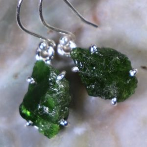 Shop Diopside Earrings! Chrome Diopside, 925 Silver Healing Stone Earrings with Positive Healing Energy! | Natural genuine Diopside earrings. Buy crystal jewelry, handmade handcrafted artisan jewelry for women.  Unique handmade gift ideas. #jewelry #beadedearrings #beadedjewelry #gift #shopping #handmadejewelry #fashion #style #product #earrings #affiliate #ad
