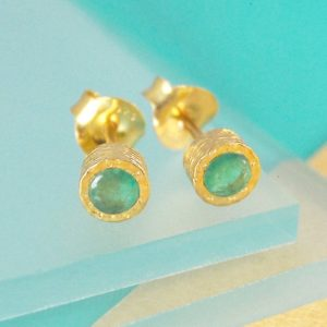 Gold Emerald Earrings, Gold Gemstone Studs, Gold Earrings, Gold Studs, Real Emerald, Precious Stone, Gemstone Jewelry Set, Natural Stone | Natural genuine Emerald earrings. Buy crystal jewelry, handmade handcrafted artisan jewelry for women.  Unique handmade gift ideas. #jewelry #beadedearrings #beadedjewelry #gift #shopping #handmadejewelry #fashion #style #product #earrings #affiliate #ad